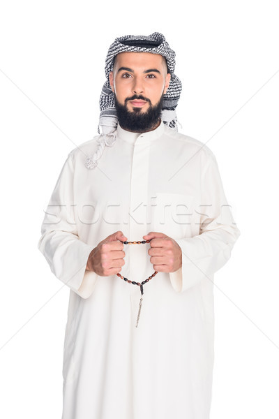 muslim man with prayer beads Stock photo © LightFieldStudios