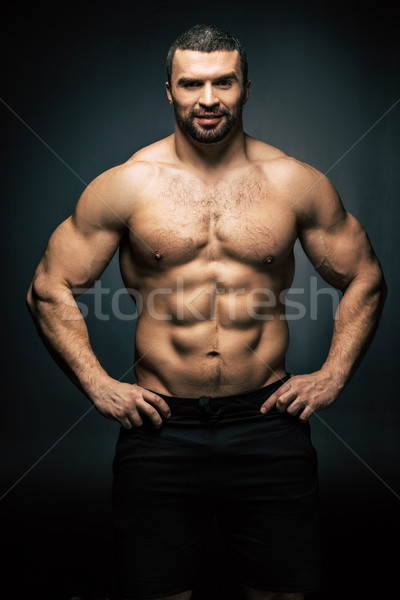 Torse nu homme portrait permanent isolé noir Photo stock © LightFieldStudios