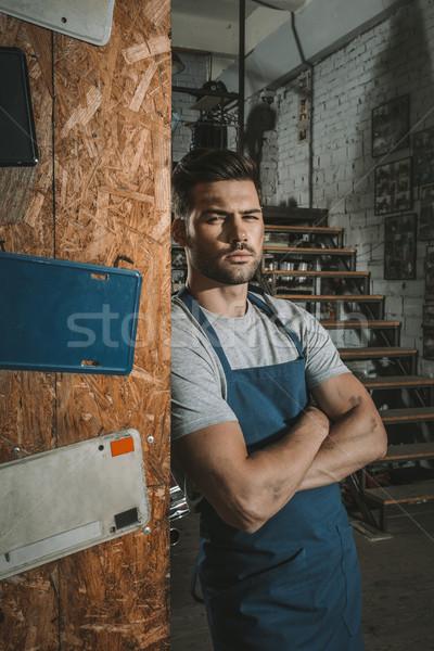 mechanic in repair shop Stock photo © LightFieldStudios