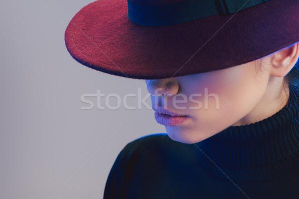 woman in wide-brimmed hat Stock photo © LightFieldStudios
