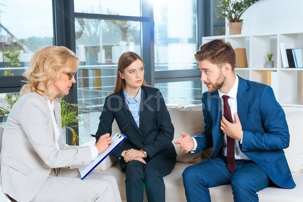 Сток-фото: психолог · говорить · терапии · служба · врач