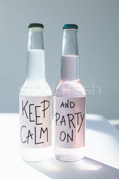 Boissons bouteilles calme fête bar alcool Photo stock © LightFieldStudios