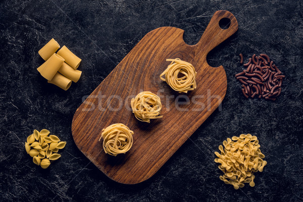 composition of various raw pasta Stock photo © LightFieldStudios