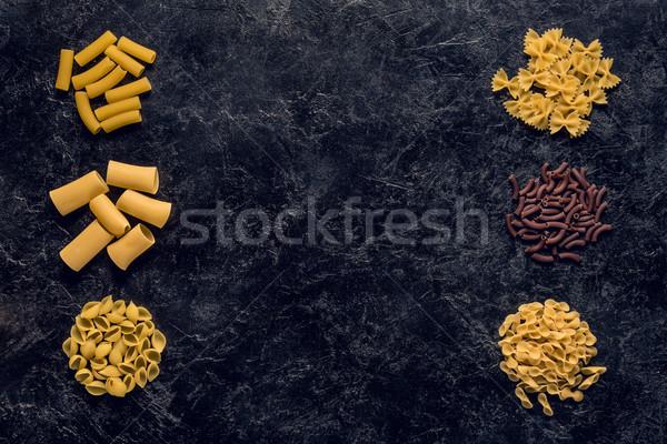 различный сырой пасты Top мнение кадр Сток-фото © LightFieldStudios