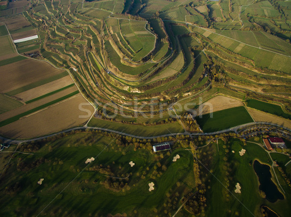 Aerial view of majestic landscape with green fields on tiers, Germany Stock photo © LightFieldStudios