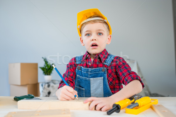 Little boy with tools Stock photo © LightFieldStudios