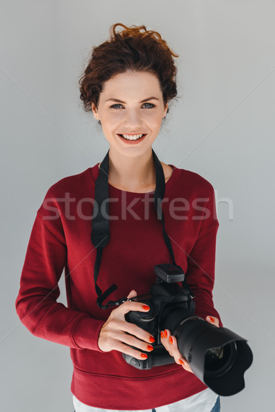 photographer with camera Stock photo © LightFieldStudios