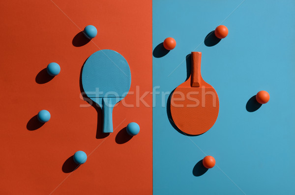 Ping pong górę widoku shot dwa Zdjęcia stock © LightFieldStudios