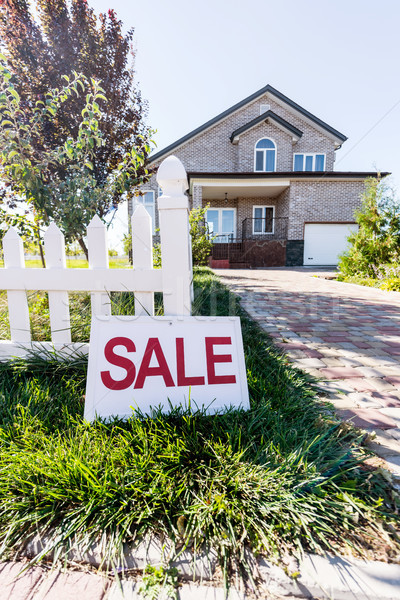 house with sign sale Stock photo © LightFieldStudios