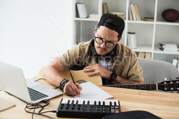 музыканта рабочих новых проект молодые красивый Сток-фото © LightFieldStudios