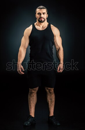 handsome athletic man Stock photo © LightFieldStudios