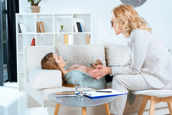 Stock photo: psychologist and patient at therapy