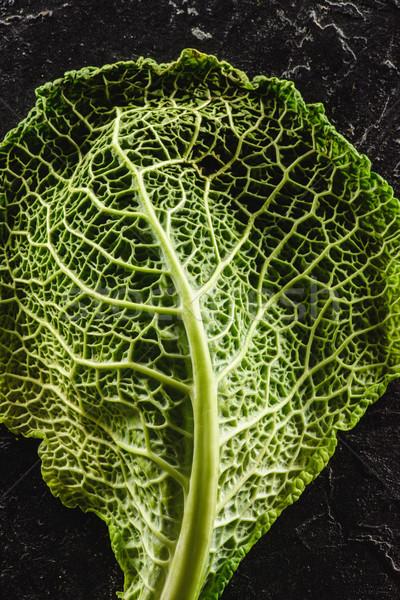 クローズアップ 表示 新鮮な 緑色の葉 健康 キャベツ ストックフォト © LightFieldStudios