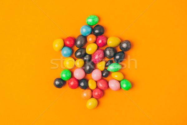 Stockfoto: Top · star · snoep · geïsoleerd · oranje