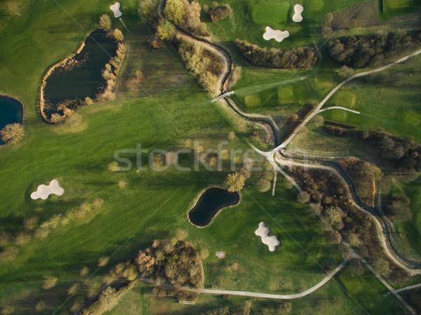 пейзаж зеленый холмы Германия свет Сток-фото © LightFieldStudios