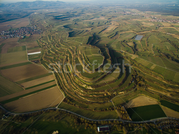 Aerial view of spectacular landscape with green fields on tiers, Germany Stock photo © LightFieldStudios