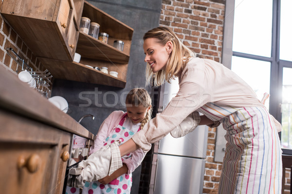 family baking cookies together Stock photo © LightFieldStudios
