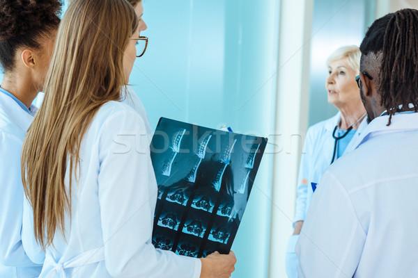 medical interns listening to teacher Stock photo © LightFieldStudios