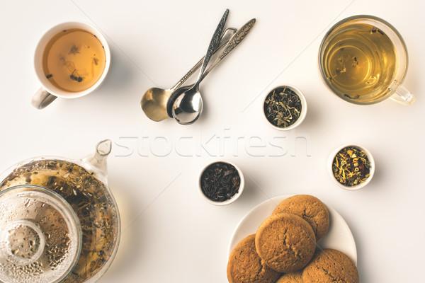 herbal tea with cookies Stock photo © LightFieldStudios