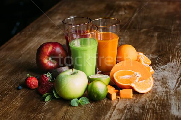 various smoothies in glasses Stock photo © LightFieldStudios