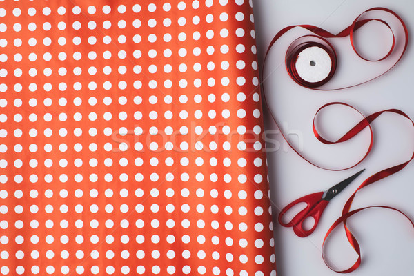 wrapping paper and ribbon Stock photo © LightFieldStudios