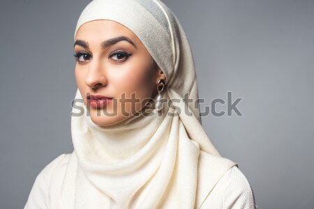 half face of muslim man Stock photo © LightFieldStudios