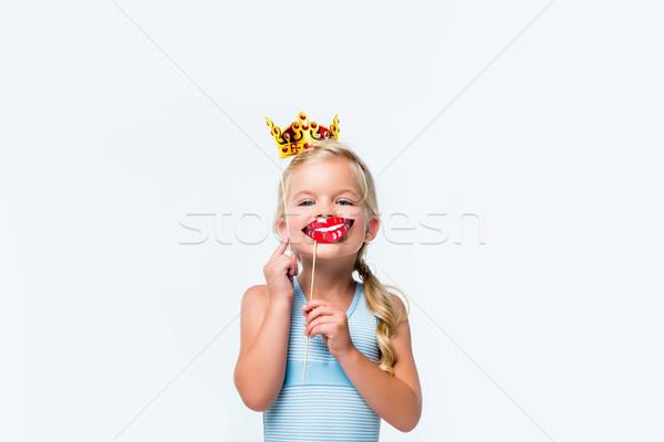 adorable child with party sticks    Stock photo © LightFieldStudios