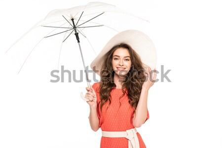 女子 毛線衣 聖誕節 禮物 看 商業照片 © LightFieldStudios
