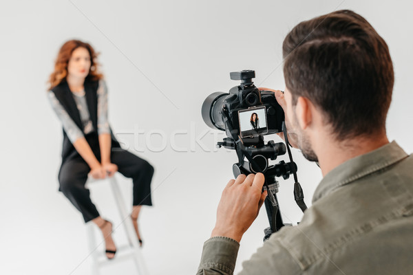 Photo stock: Mode · professionnels · photographe · belle · modèle · photo