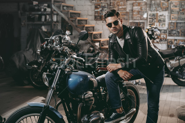 motorcyclist Stock photo © LightFieldStudios