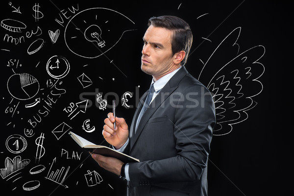 businessman planning marketing strategy Stock photo © LightFieldStudios