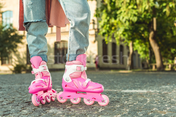 stylish girl in roller skates Stock photo © LightFieldStudios