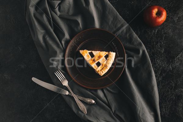 piece of apple pie Stock photo © LightFieldStudios