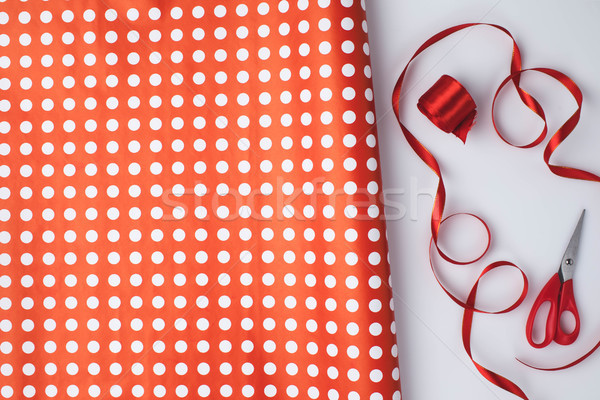 wrapping paper and ribbons Stock photo © LightFieldStudios