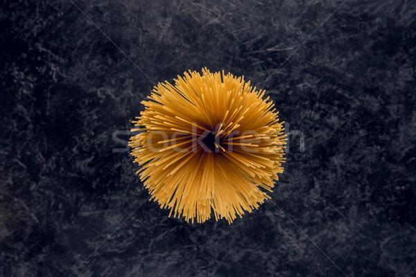 Spaghetti top view greggio pietra buio Foto d'archivio © LightFieldStudios