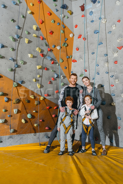 Family standing near climbing walls Stock photo © LightFieldStudios
