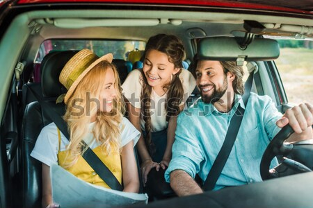 multiethnic girls taking selfie Stock photo © LightFieldStudios