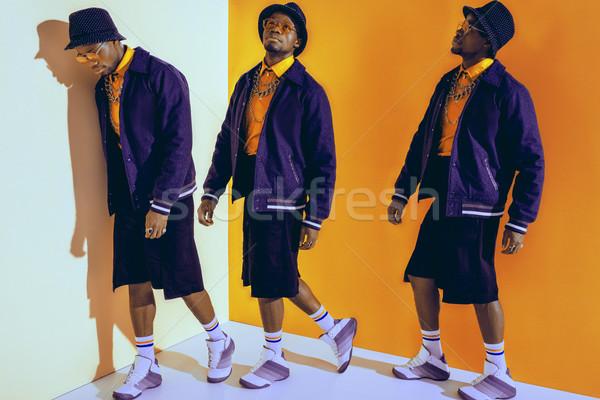fashionable african american man Stock photo © LightFieldStudios