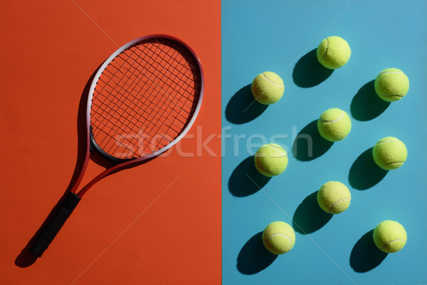 Tennisracket top shot twee Stockfoto © LightFieldStudios
