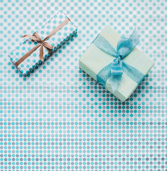 presents on wrapping paper Stock photo © LightFieldStudios