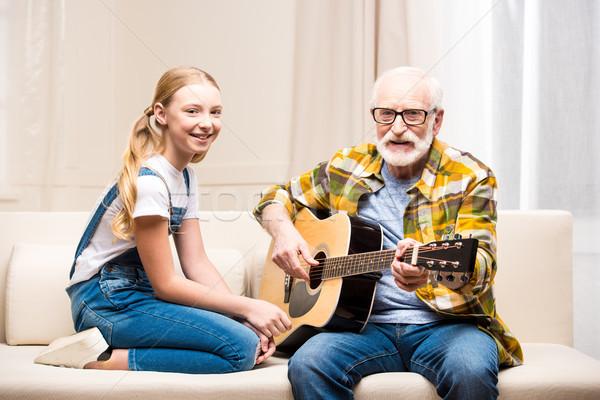 старший человека очки преподавания Cute мало Сток-фото © LightFieldStudios