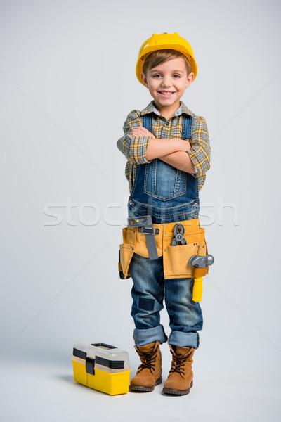 Little boy in tool belt Stock photo © LightFieldStudios