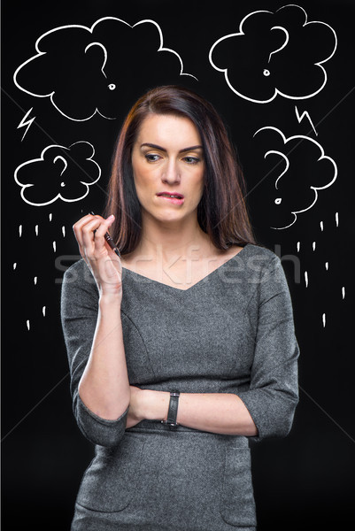 Depressed thoughtful woman Stock photo © LightFieldStudios