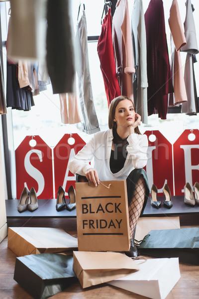 Black friday kadın butik satış alışveriş Stok fotoğraf © LightFieldStudios