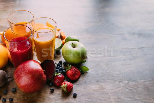 Bril vers vruchten Stockfoto © LightFieldStudios