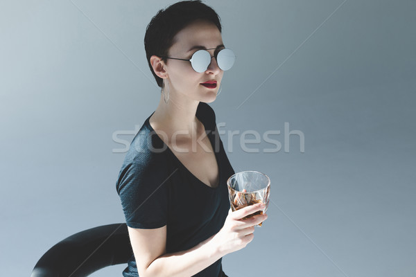 woman drinking whiskey  Stock photo © LightFieldStudios