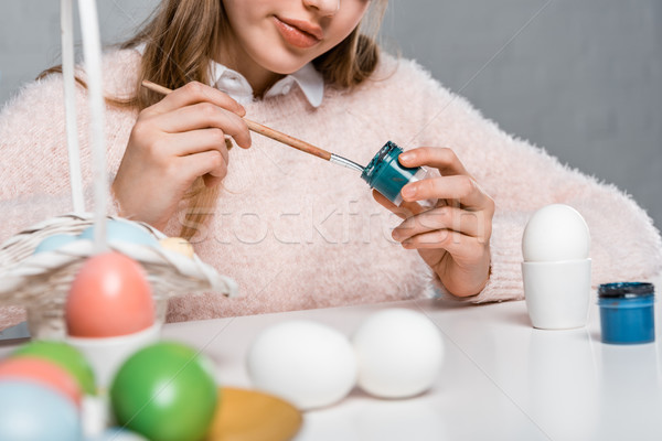 Сток-фото: выстрел · улыбаясь · ребенка · Живопись · яйца · Пасха