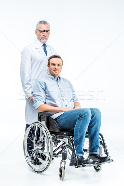 Handicapped man and doctor  Stock photo © LightFieldStudios