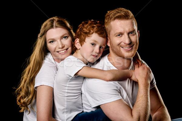 Portré család fehér ölel egyéb izolált Stock fotó © LightFieldStudios