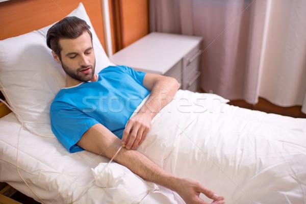 Homme patient hôpital jeunes chute Photo stock © LightFieldStudios